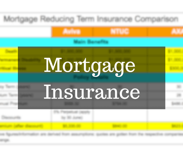 mortgage insurance comparison singapore