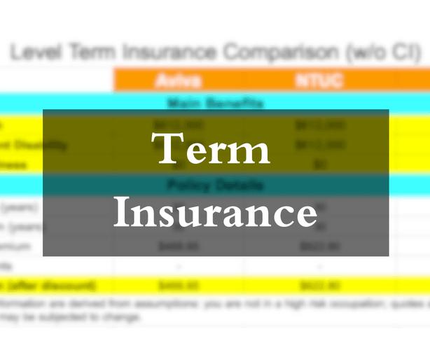 compare term insurance