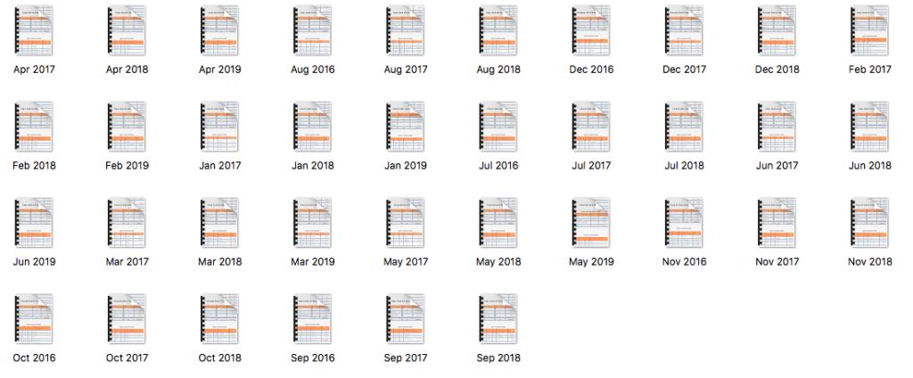 36 months of data