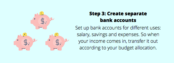 how to budget money step 3