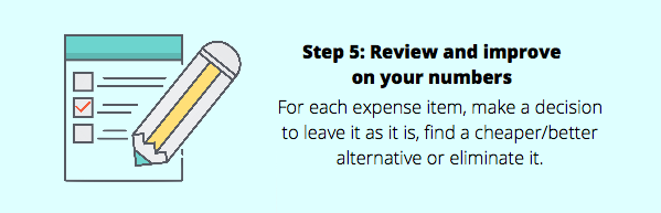 how to budget money step 5