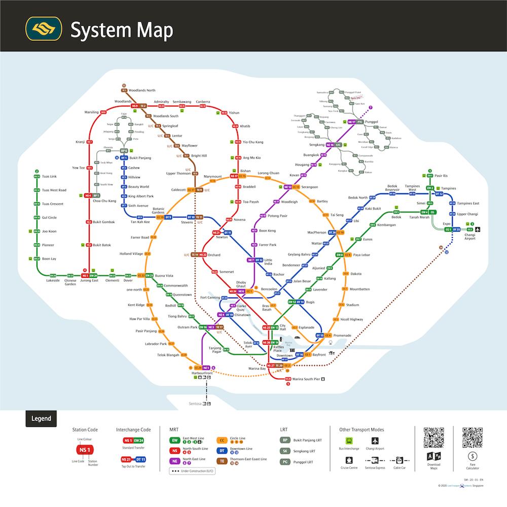 singapore train system map